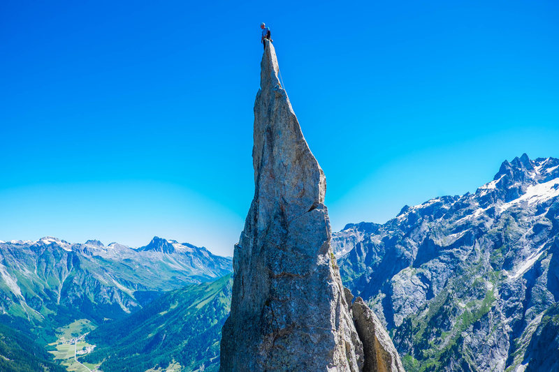 Rock Climbing Photo: Fiamma summit on a bluebird day in July. Photo by ...
