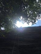 Rock Climbing Photo: Mark at or near P1 anchors