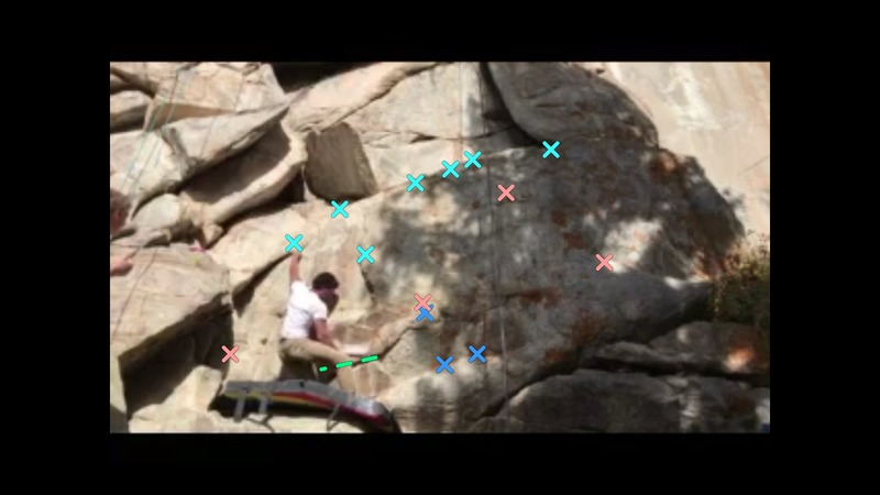 Rock Climbing Photo: Left hand placement after the crux.