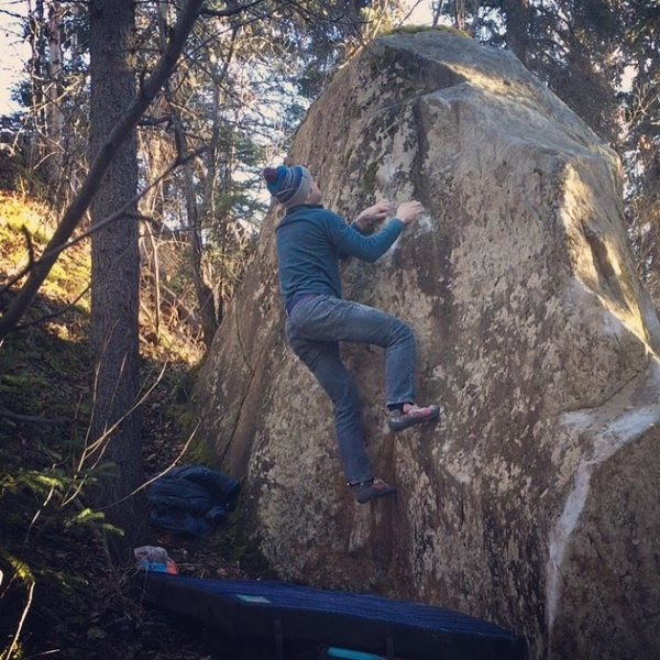 Rock Climbing Photo: Greg eyeing the top.