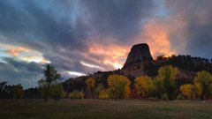 Rock Climbing Photo: Sunset from the KOA