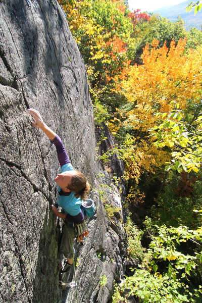 Rock Climbing Photo: Torie. Fall colors. Killer jams.