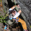 Devon. Climbing. Torie belays.