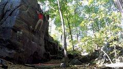 Rock Climbing Photo: Erick Kopff Sticking the Dyno on the FA. PC Jason ...