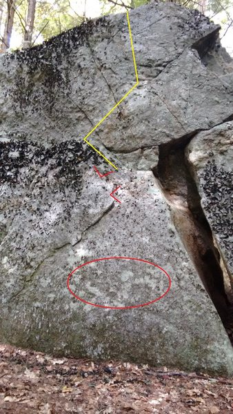 Starting hands/feet with general direction of ascent.
