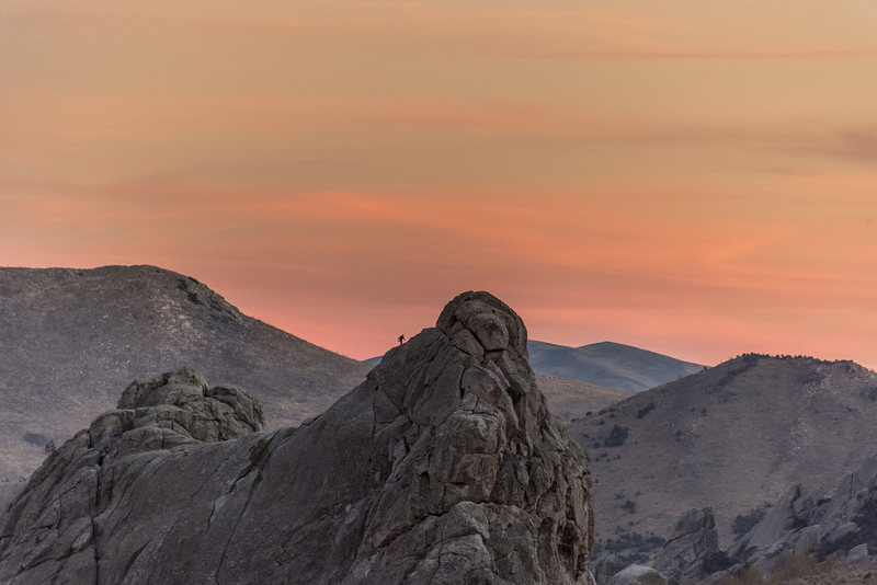 Rock Climbing Photo: Bath rock sunset