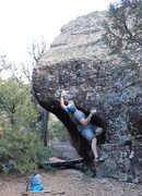 Rock Climbing Photo: Start hands and feet, also first move to the crimp...