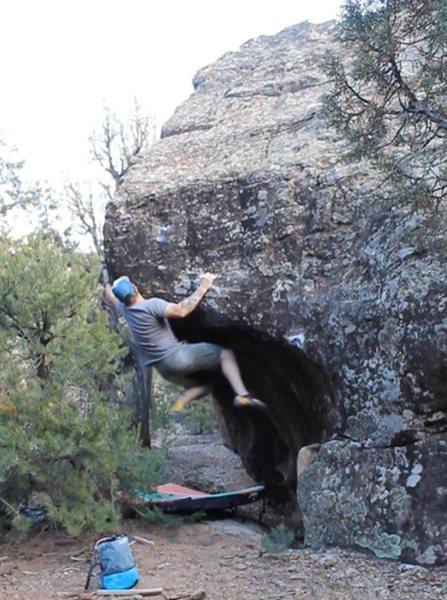 Rock Climbing Photo: Jump to the knob.