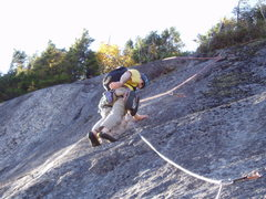 Rock Climbing Photo: Steve Miller, high above the ground on Ground Cont...