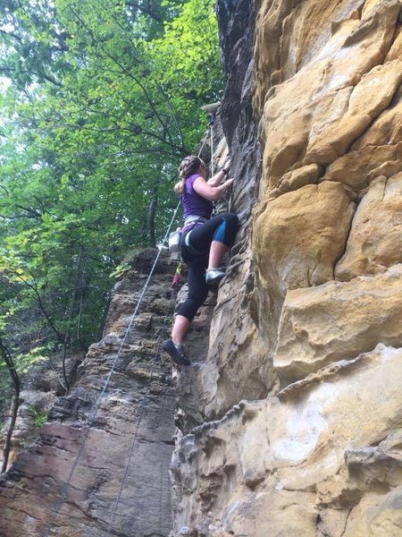 climbing at The Ledges in Grand Ledge, Michigan