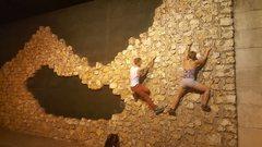 Rock Climbing Photo: Exploring a hidden bouldering (buildering) spot in...