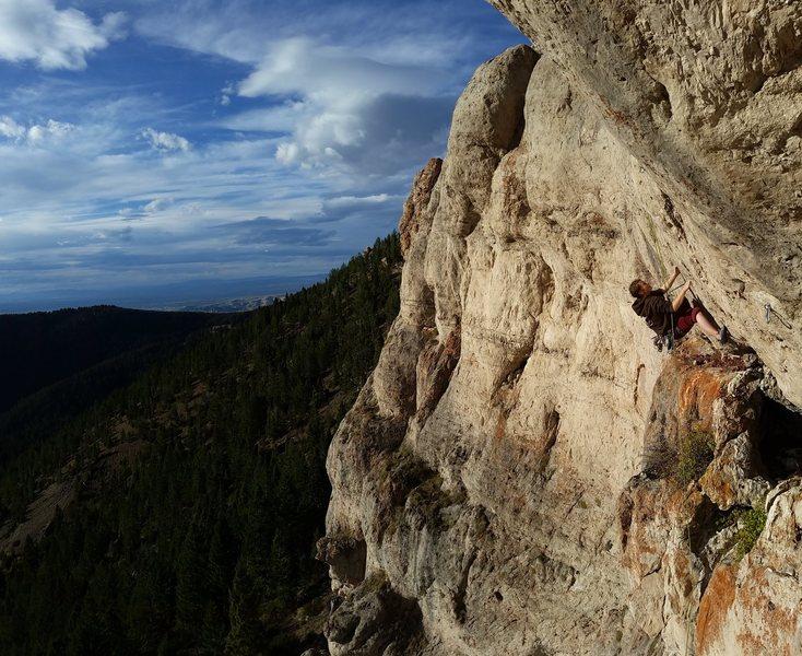 Rock Climbing Photo: #warneke, Bozeman in the background
