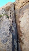 Rock Climbing Photo: Flared start of the route shared with Blue Sky, Bl...