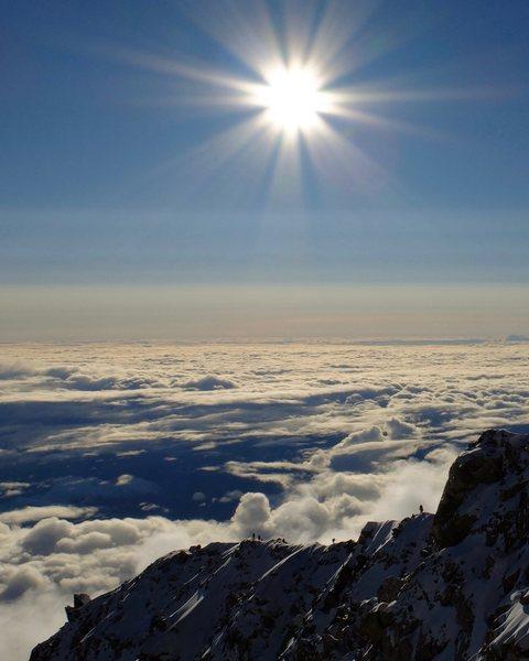 Rock Climbing Photo: Ridge to 17K