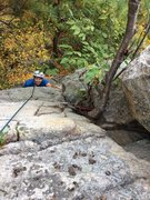 Rock Climbing Photo: Jason having fun on his first Gunks 5.8