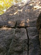Rock Climbing Photo: Difficult Crack. October 2016