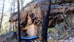 Rock Climbing Photo: Sam on Hippy Mafia.