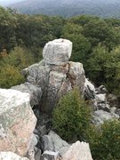 Rock Climbing Photo: Chimney Rock from the trail approach