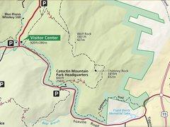 Rock Climbing Photo: Trail map of Chimney Rock Area.