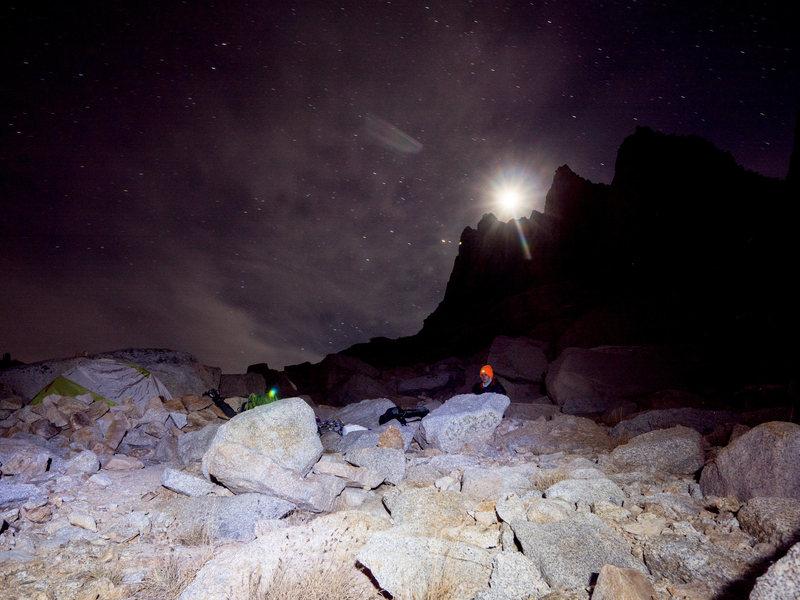 Rock Climbing Photo: moonlight