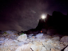 Rock Climbing Photo: moonlight