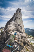 """Rock Climbing Photo: """"route finding"""" a little off route."""