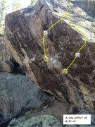 Rock Climbing Photo: Log Raft topo.