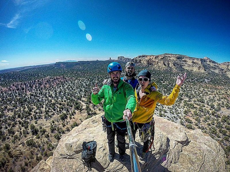 Tanner, me, and Eric on Jacks' Tower. Nothing better than moderate desert towers!
