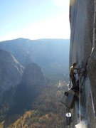 Rock Climbing Photo: Near the top of the PO