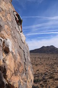 Rock Climbing Photo: Frank Bentwood on the first ascent of Ranch Hand. ...