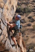 Rock Climbing Photo: Frank Bentwood leading the first ascent of The Ran...
