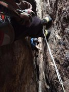 Rock Climbing Photo: 2nd and 3rd in a group of 3 coming up through the ...