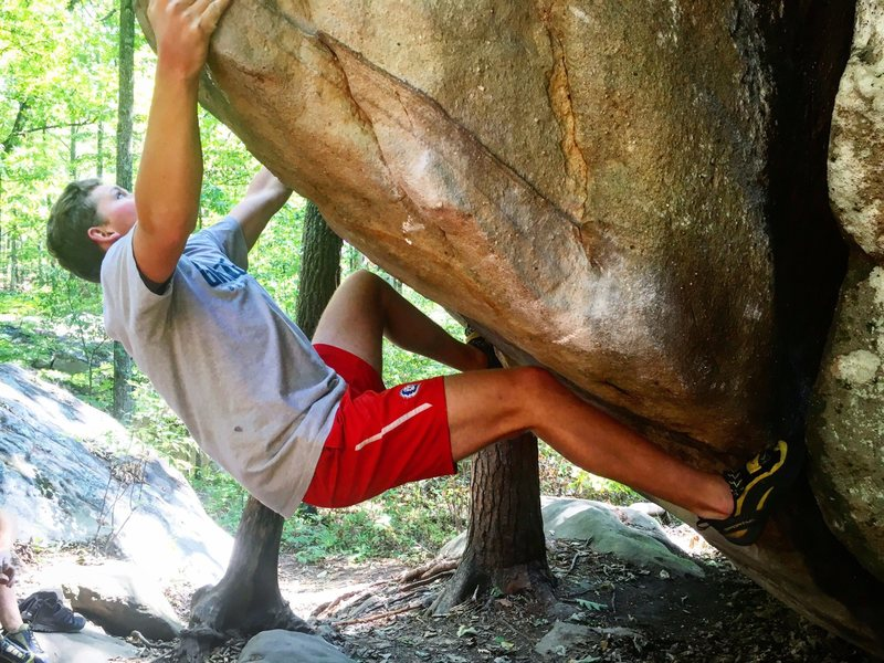 Rock Climbing Photo: Final sloper sidepull