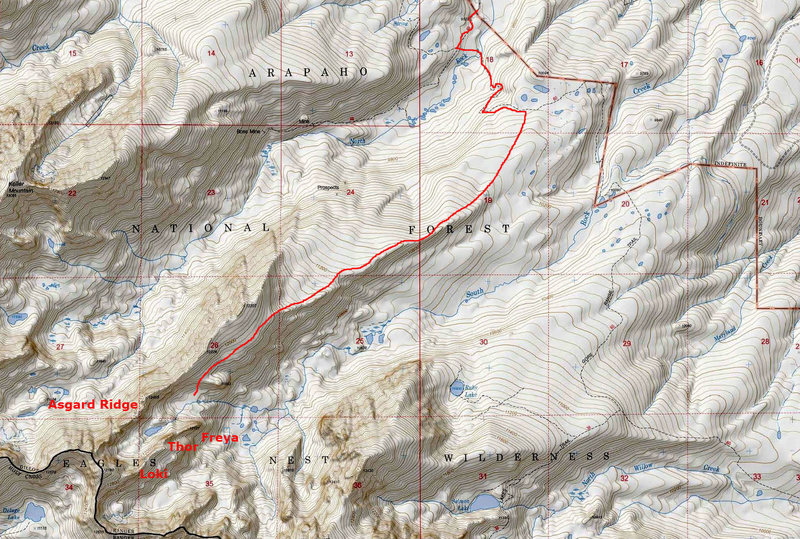 Rock Climbing Photo: Asgard Meadows approach.