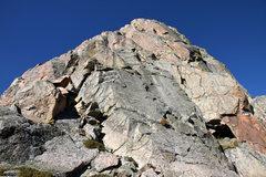 Rock Climbing Photo: Looking up Freya's east ridge from the base.