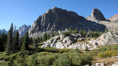 Rock Climbing Photo: Freya Tower (left) and Thor Tower (right) with Asg...