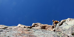 Rock Climbing Photo: Ryan leading pitch 2.