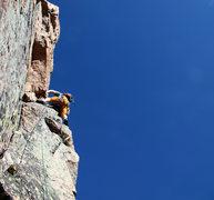 Rock Climbing Photo: Again, Ryan leading pitch 2.