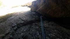 Rock Climbing Photo: Looking up the ultra quality burly Dark Crystal