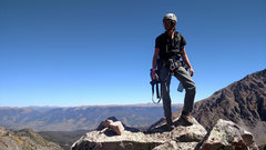Rock Climbing Photo: Me on top. What a wonderful Fall day.