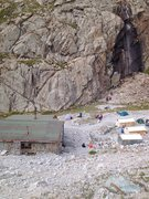 Rock Climbing Photo: Bolted crag, next to the Ratsak Hut.  A top rope c...