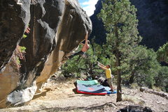 Aki sticks the big move on All You Sinners (V6). <br /> <br />-- photo by Lisa