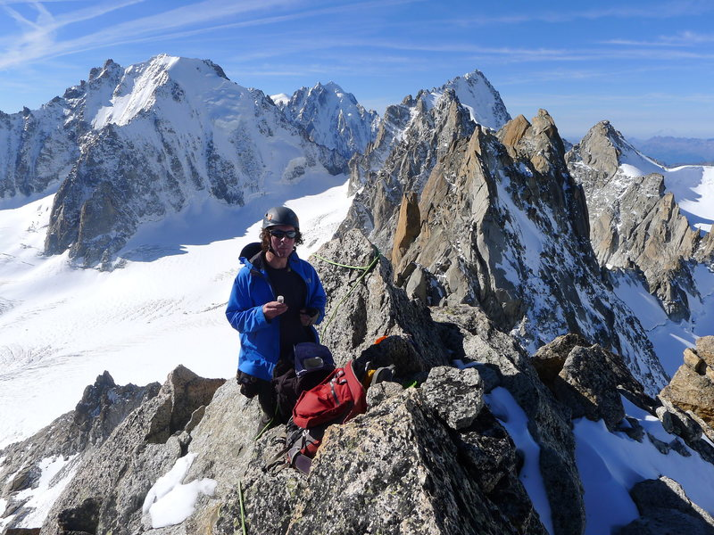 Rock Climbing Photo: On the peak of Tête Biselx enjoying some of my sp...