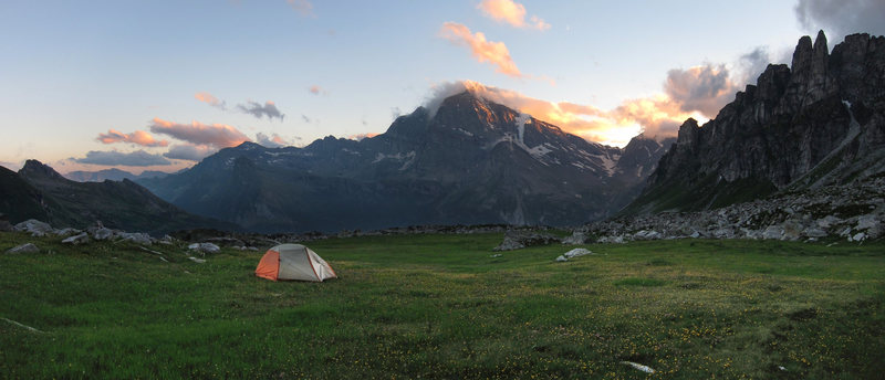"My best ""tent shot"" ever, on the northern border of Italy."