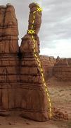 Rock Climbing Photo: Hidden Tower as viewed from its not so hidden side...