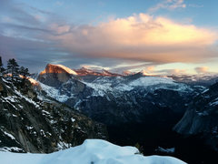Rock Climbing Photo: Sunset view on a winter hike from the Awahnee, up ...