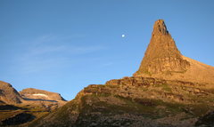 Rock Climbing Photo: View from my bivy sack of the Zervreilahorn.  If i...