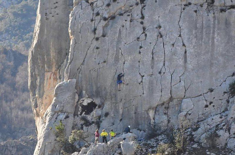 Rock Climbing Photo: Me top roping in albania