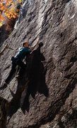 Rock Climbing Photo: Technical climbing that doesn't really let up ...