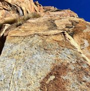 Rock Climbing Photo: Looking up Pitches 3 & 4 on Meteor. Using 60m rope...
